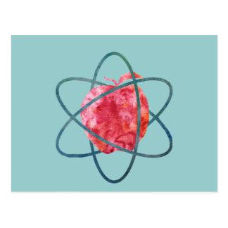 Atom Apple Postcard