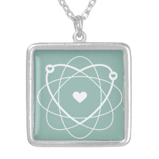 Atom Love. Wedding Edition. Collection Atom Love. Silver Plated Necklace