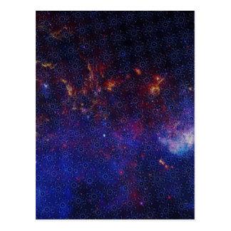 Atom Pattern Postcard