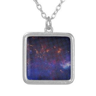 Atom Pattern Silver Plated Necklace