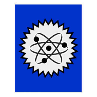 ATOM SCIENCE NUCLEAR LIFE CELL GRAPHICS LOGO ICON POSTCARD
