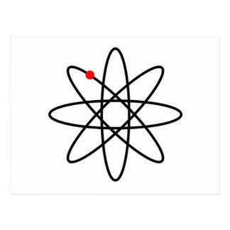 Atom symbol by zizudesign postcard