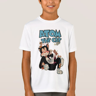 Atom the Cat cute furry feline superhero T-Shirt