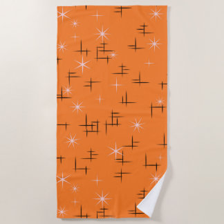 Atomic Age Retro Pattern Beach Towel