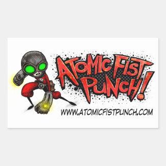 ATOMIC FIST PUNCH Stickers! Rectangular Sticker