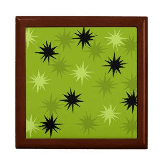 Atomic Green Starbursts Wooden Gift Box
