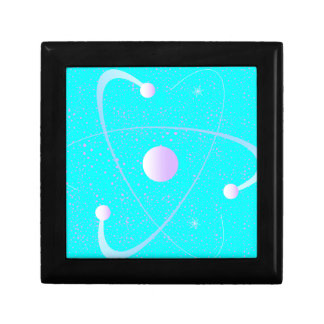 Atomic Mass Structure Background Gift Box