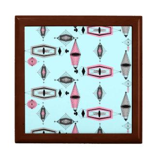 Atomic Pink & Grey Pattern Gift Box