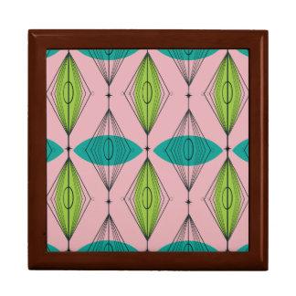 Atomic Pink Ogee & Starbursts Tile Gift Box