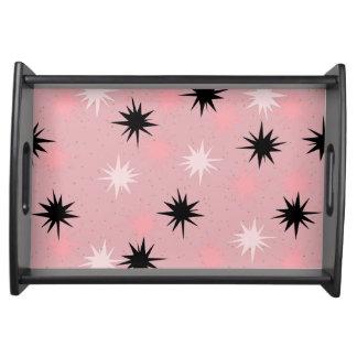 Atomic Pink Starbursts Serving Tray