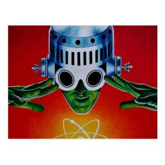 ATOMIC SPACEMAN POSTCARD