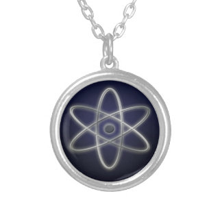 Atomic Symbol Silver Plated Necklace