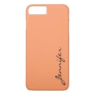 Atomic tangerine color background iPhone 7 plus case