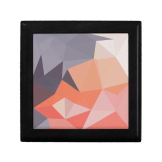 Atomic Tangerine Orange Abstract Low Polygon Backg Gift Box