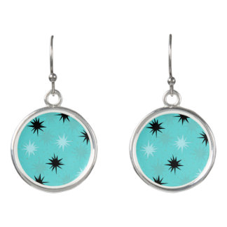 Atomic Turquoise Starbursts Earrings