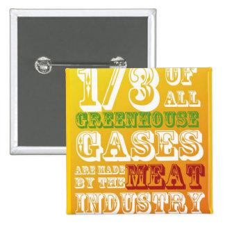 Attack Meat! 15 Cm Square Badge