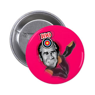 Attack of the flying shoe-Throw Shoe @ George Bush 6 Cm Round Badge