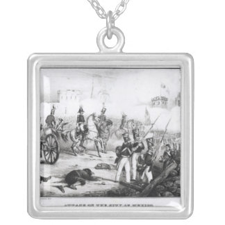 Attack on the City of Mexico Silver Plated Necklace