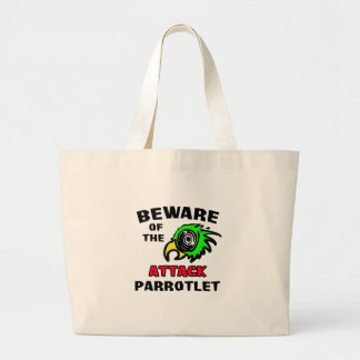 Attack Parrotlet Large Tote Bag