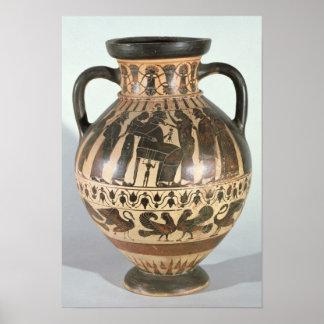 Attic Corinthian amphora Poster