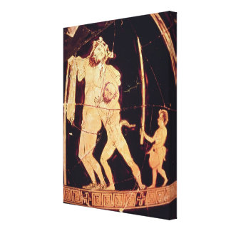 Attic red-figure vase canvas print