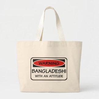 Attitude Bangladeshi Large Tote Bag