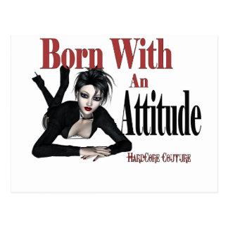 * Attitude Born with an Attitude Postcard