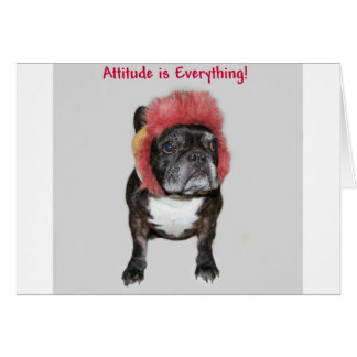 attitude is everything cute dog greeting cards