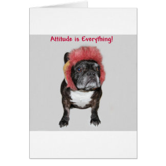 attitude is everything cute dog greeting card