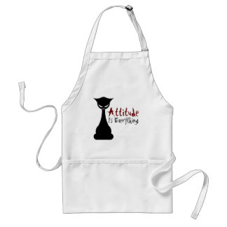 Attitude Is Everything! Gothic Cat - Apron