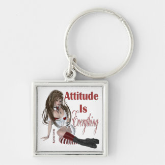 Attitude Is Everything Key Ring
