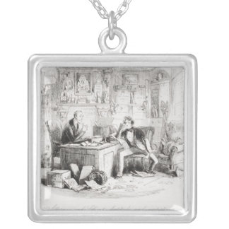Attorney and Client, fortitude and impatience Silver Plated Necklace
