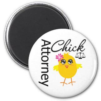 Attorney Chick v1 6 Cm Round Magnet