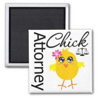 Attorney Chick v1 Square Magnet