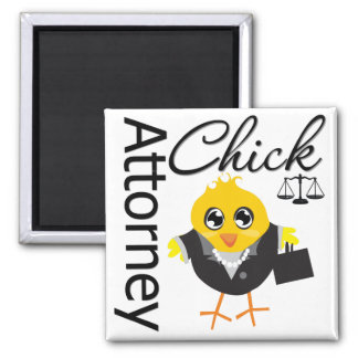 Attorney Chick v2 Square Magnet