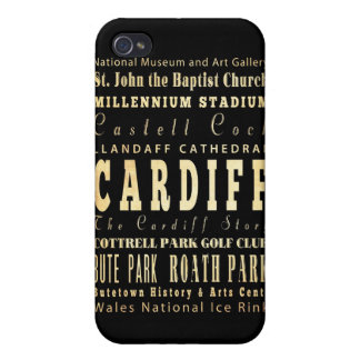 Attractions and Famous Places of Cardiff,UK iPhone 4/4S Cases