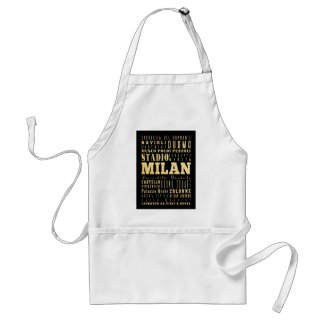 Attractions and Famous Places of Milan, Italy Standard Apron