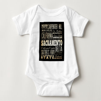 Attractions and Famous Places of Sacramento Baby Bodysuit