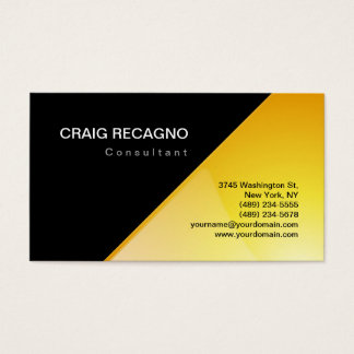 Attractive Charming Black & Yellow Business Card