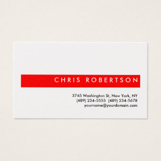 Attractive Charming Red Stripe Business Card