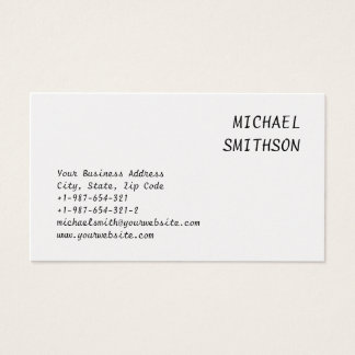 Attractive Charming Script Business Card
