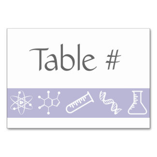 Attractive Forces in Lavender Table Card