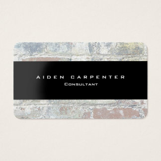 Attractive Grey Wall Black Modern Style Minimalist Business Card