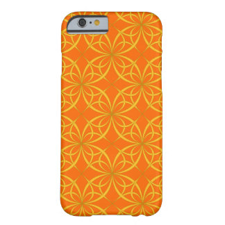 Attractive orange floral Pattern Barely There iPhone 6 Case