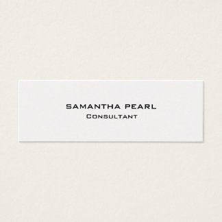 Attractive Pearl Stylish Modern Minimalist Chic Mini Business Card