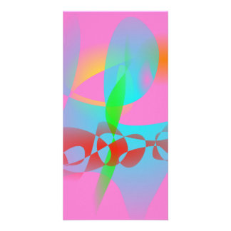 Attractive Pink Abstract Art Photo Card