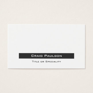 Attractive Simple Gray Black White Business Card