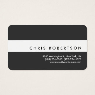 Attractive White Grey Rounded Corner Business Card