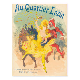 Au Quartier Latin by Jules Chéret Postcard