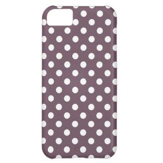 Aubergine Polka Dot iPhone 5 Case